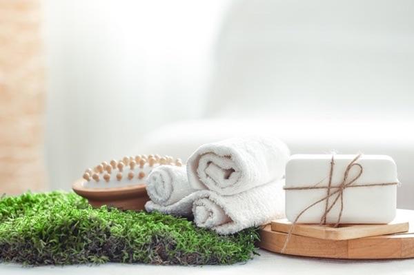 cepillo de madera de bambú baño natural