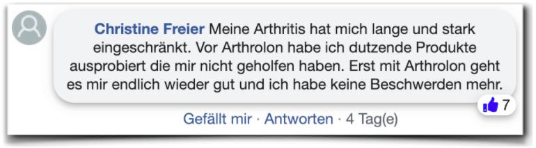 Opiniones de Arthrolon Experience facebook