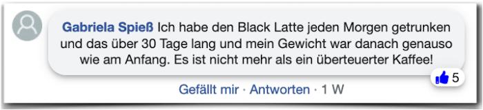 Informe de experiencia de experiencia de Black Latte Experience