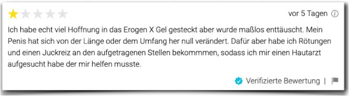 Crítica de evaluación del informe de experiencia de Erogen X Erogen X
