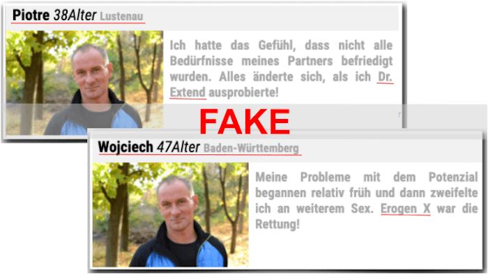 Informe falso y original Erogen X